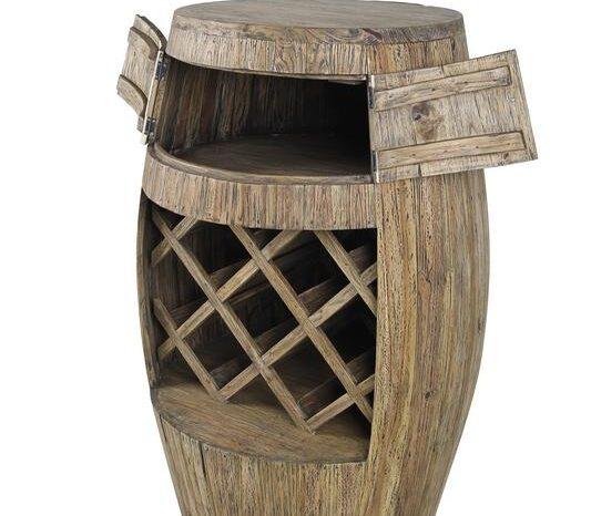 Giant Teak Wine Barrel Rack