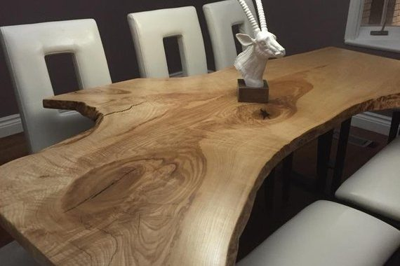 Live Edge Single Slab Reclaimed Wood Table
