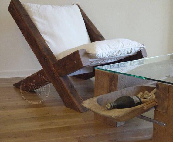 Reclaimed Wood Lounge Chair