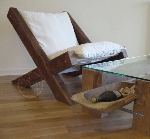 Reclaimed Wood Lounge Chair