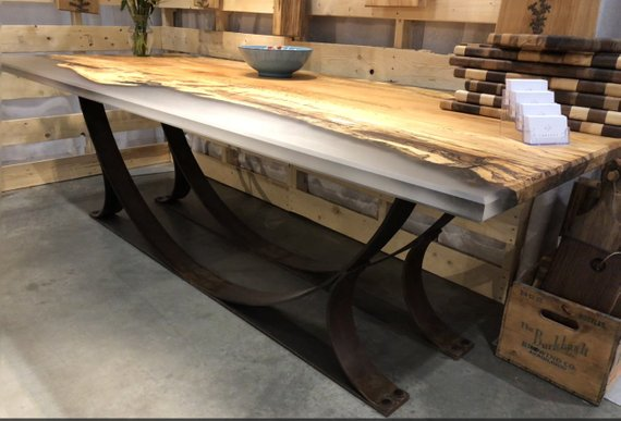 Spalted Maple Epoxy Dining Table