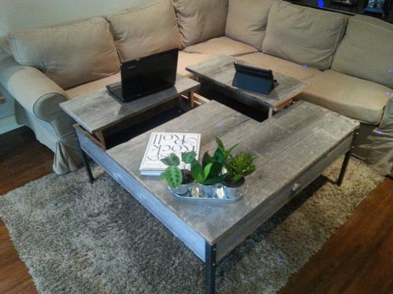 Double-Pop-up-Barn-Wood-Coffee-table-3-Wood Furniture