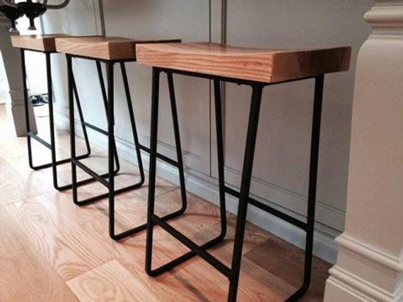 Metal & Wood Bar Stools
