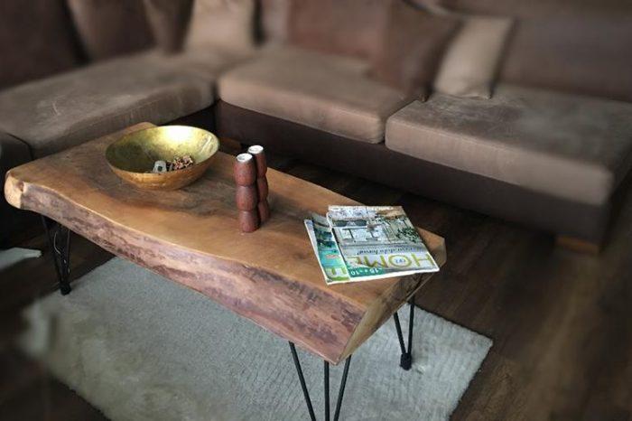Customized Walnut Live Edge Tables