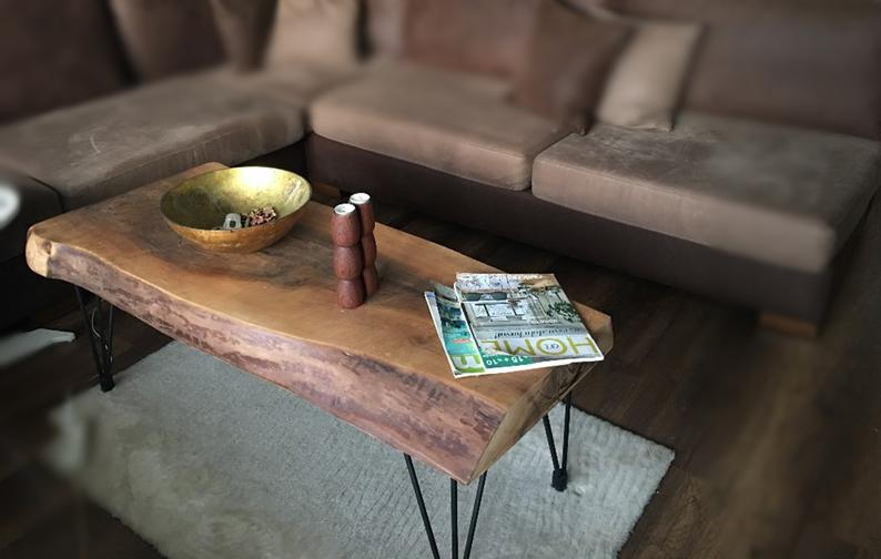 Natural Live Edge Walnut Coffee Table - Woodify 1